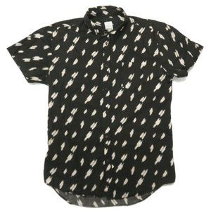 Assembly Label Button Up Shirt Top Large S/S